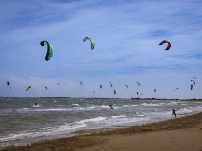 Katalonien, Ebro-Delta - Kite-& Windsurfspot Riumar