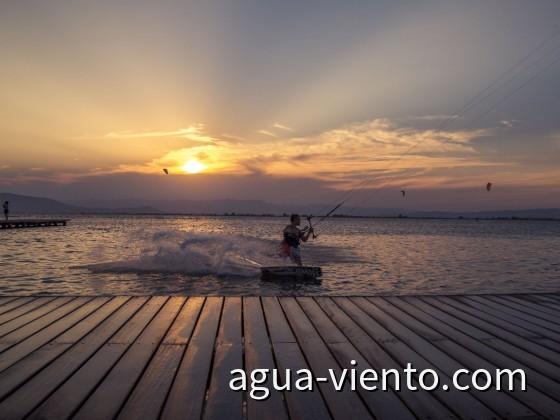 Kitesurfing on Trabucador (Delta de Ebro, Catalonia)