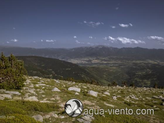 Cerdanya, view from Molleres del Puigpedrós to Serra de Cadí