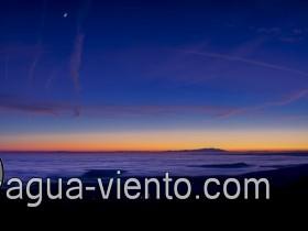 Landscapes of Aragon - sundown on Castillo de Loarre
