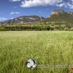 Organya landscape - the rock Santa Fe and Mont-roi