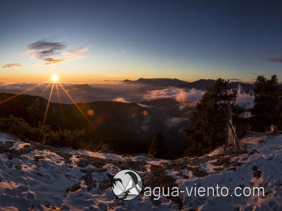 Bergueda, Rasos de Peguera con nieve y sol