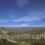 Paragliding Castell de Montgri on Costa Brava in Catalonia - view to Vall Petita