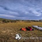 Paragliding Castell de Montgri on Costa Brava in Catalonia - safe landet near Torroella de Montgrí