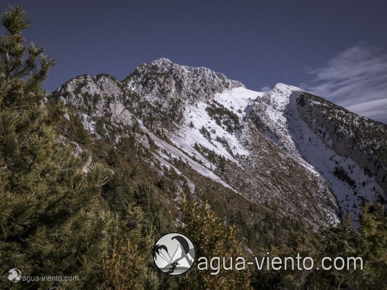Massis de Pedraforca view from Gosol - winter landscape hiking Spain