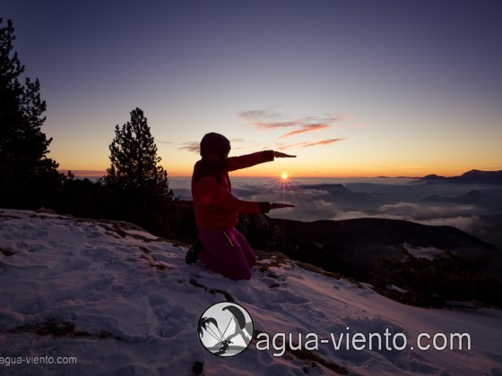 Bergueda, Rasos de Peguera - sundown on snow