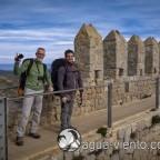 Paragliding Castell de Montgri on Costa Brava in Catalonia - two true friends