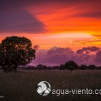 Colorfull sundown in landscape of Cabañeros National Park in Spain