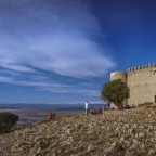 picture from startplace for paraglider on Castell de Montgri on Costa Brava in Catalonia