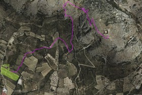 maps from startplace for paraglider on Castell de Montgri on Costa Brava in Catalonia