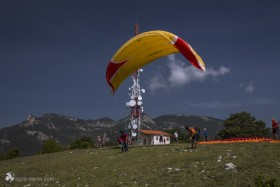 photo from La Figuerassa a startplace for paraglider in Berga in region Bergueda in Catalonia
