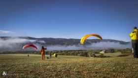 photo from Camp de la T a landingfield for paraglider in Ager in region Montsec in Catalonia